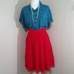 Modcloth Set on Texture A-Line Skirt
